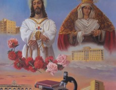 CARTEL VISITA JESÚS CAUTIVO Y Mª SANTÍSIMA TRINIDAD AL HOSPITAL CIVIL