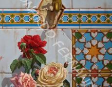 GRIFO CON ROSAS, Lámina 45 x 32 cm
