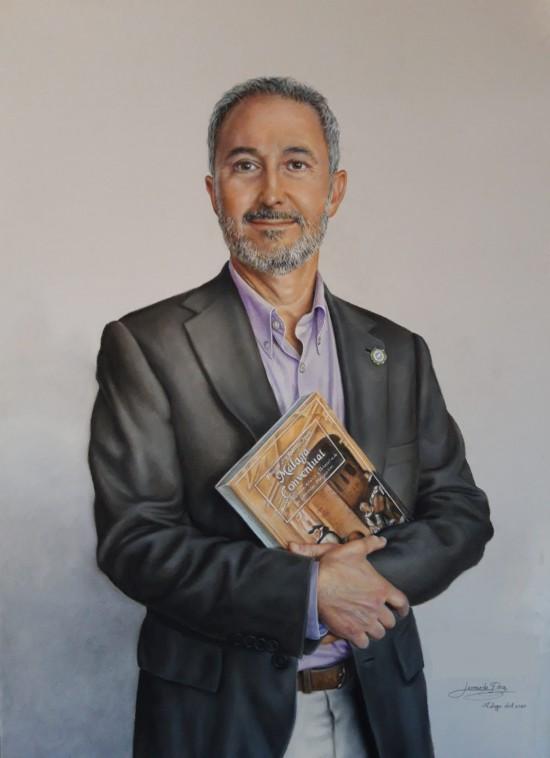 "Retrato "" Obra Realizada por Leonardo Fernández"""